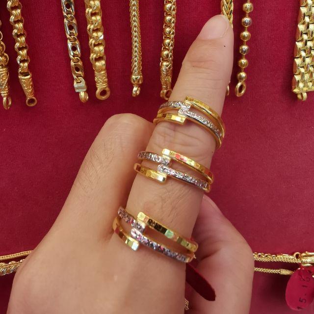แหวนทองแท้เลเซอร์ทองคำขาว 96.5% น้ำหนักทอง 1 สลึง ไซ้ร 52,53,  ราคา 8,100บาท