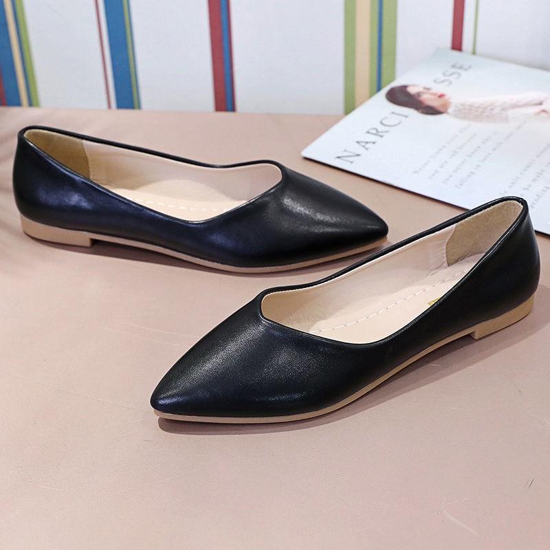 รองเท้าคัชชูผู้หญิง🌷รองเท้าคัทชูผู้หญิง🌷รองเท้าคัชชู หัวแหลม รองเท้าแฟชั่นผู้หญิง สวยไฮโซสวยทุกสีเลยจ้าใส่นิ่มสบายเท้า