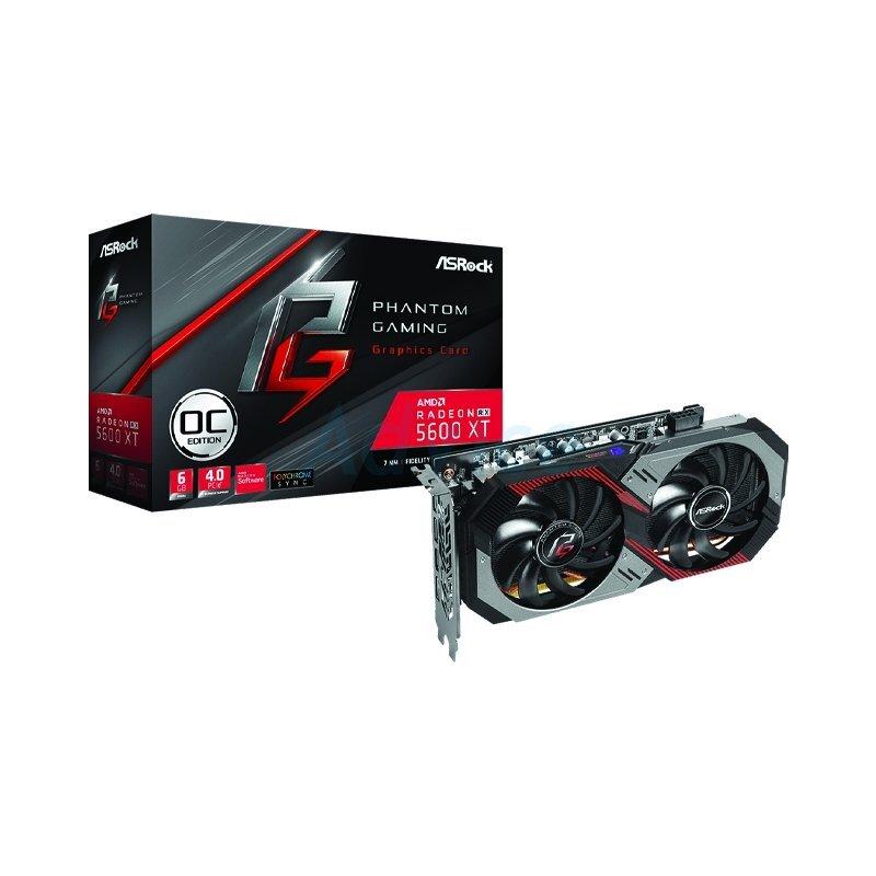 6GB GDDR6 AMD RX5600XT ASROCK PHANTOM GAMING D2