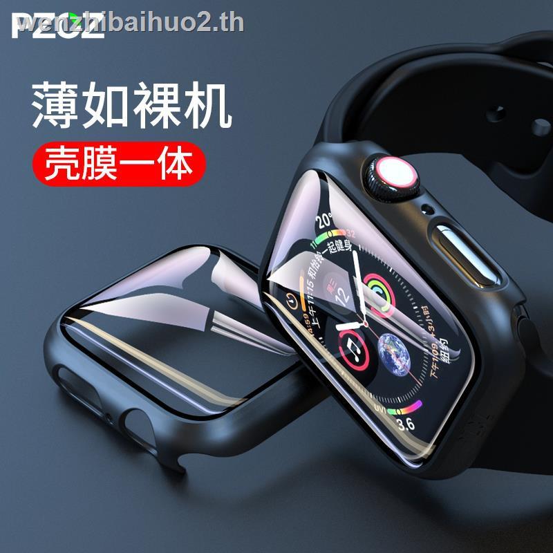 ฟิล์มป้องกัน IN STOCK^^♂┅PZOZ Apple Watch applewatch6 protective cover iwatch shell film all-inclusive 1/2/3/4/5 generation s5 case s4 frame series accessories se s6