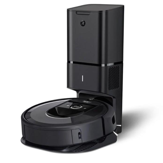 [สินค้าพร้อมส่ง] หุ่นยนต์ดูดฝุ่น ทำความสะอาดตัวเองได้ เชื่อมต่อสมาร์ทโฟน แรงดูด 10 เท่า iRobot Roomba i7+