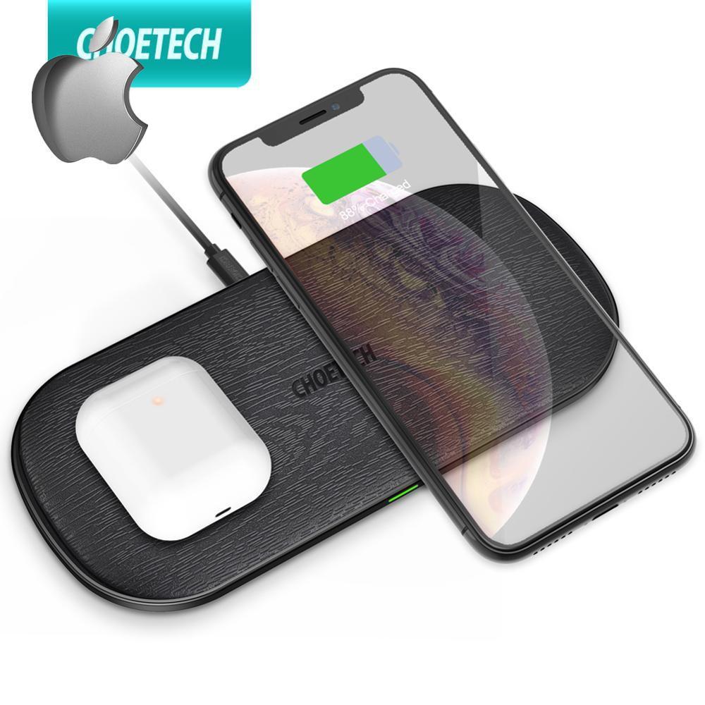 [เว็บไซต์อย่างเป็นทางการสามารถตรวจสอบหมายเลขซีเรียลได้]CHOETECH  Qi Charging Pad Wireless Charger 18W 5 Coils for iPhone