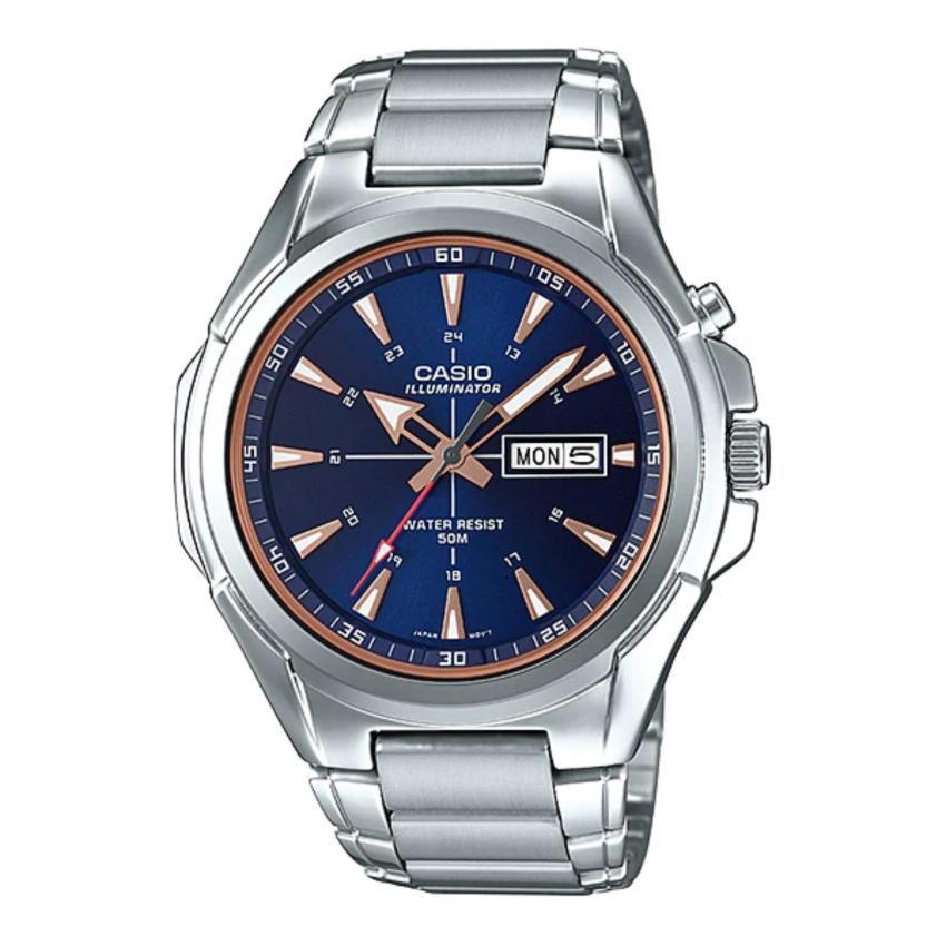CASIO STANDARD นาฬิกาผู้ชาย สายสแตนเลส รุ่น MTP-E200D-2A2