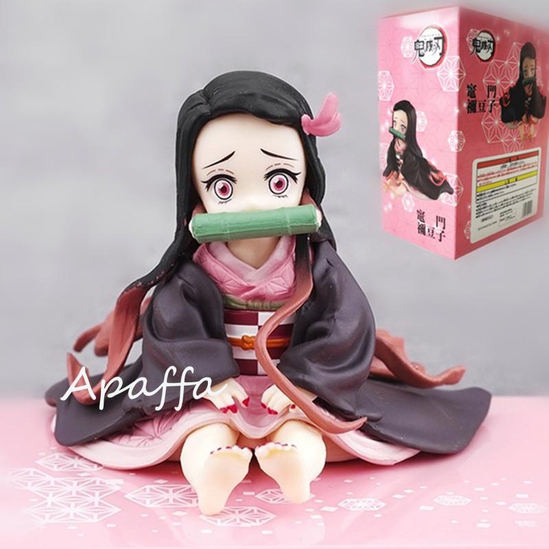 Anime Figure Demon Slayer Kimetsu no Yaiba Kamado Nezuko Sitting osition VC Action Figure Toys Collectible Model  Gifts