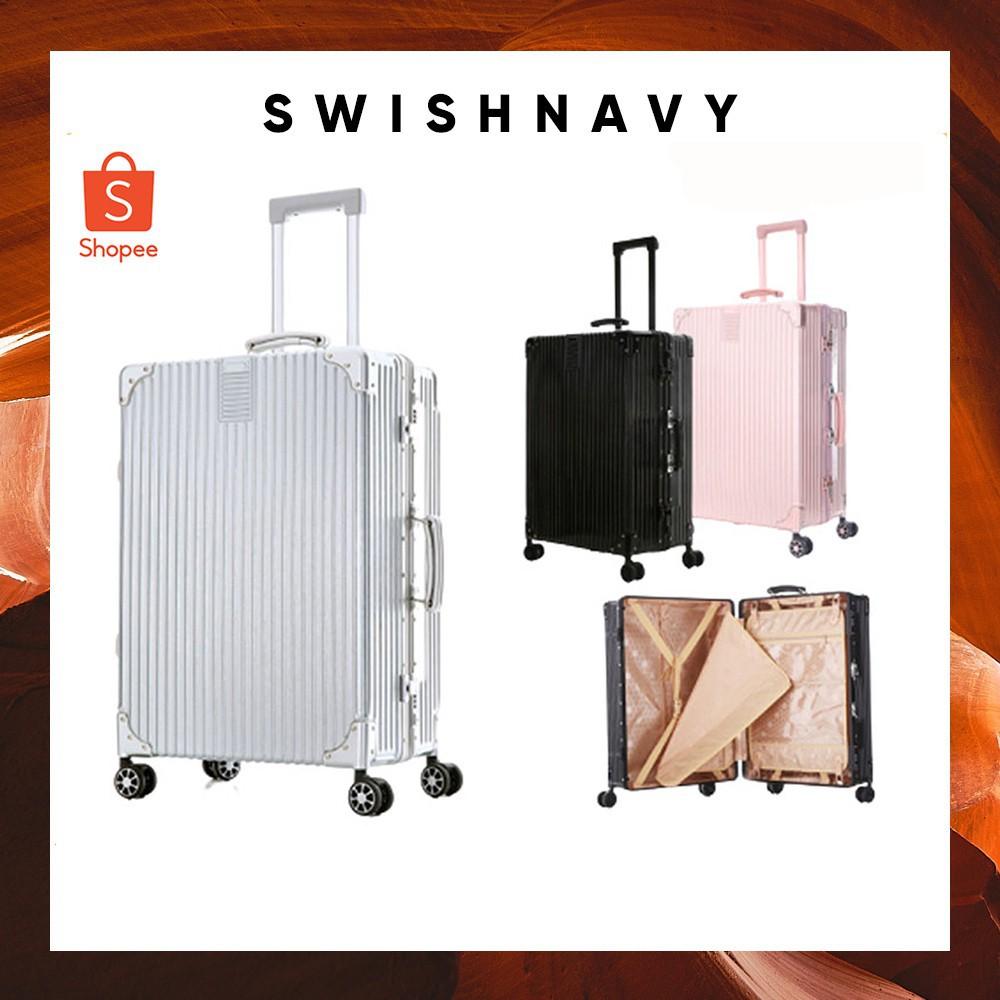 กระเป๋าเดินทาง 20 นิ้ว กระเป๋าเดินทาง กระเป๋าเดินทางล้อลาก รุ่น SQUARE ขนาด 20/24/28 นิ้ว วัสดุ PC+ABS แข็งแรง โครงอลูมิ