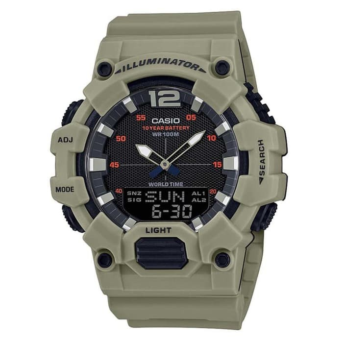 Casio นาฬิกาข้อมือดิจิตอล Hdc-700-3a3vdf - สีเบจ - Hdc700