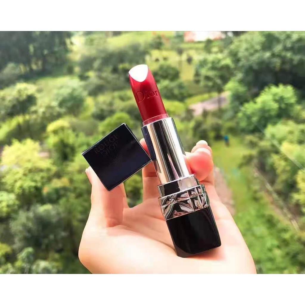 999 ROUGE DIOR999 satin Lipstick ลิปสติก Matte 2021 new   pattern Purchasing agent Hot sale trend