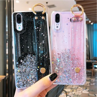 Review OPPO A53 A52 A92 A12 A31 A91 A9 A5 2020 F11 Pro A5s A7 F9 F7 A3s F1s A37 A37F A57 A39 4 Colors Silver Foil Glitter + Wristband Soft Case Full Cover AW
