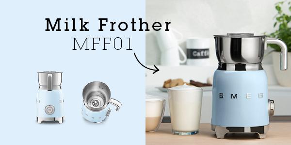 ✿Bubbler✿ อิตาลีsmeg smeg mff01นำเข้าอัตโนมัติร้อนและเย็นเครื่องทำฟองกาแฟเครื่องทำฟองนมความร้อนนม