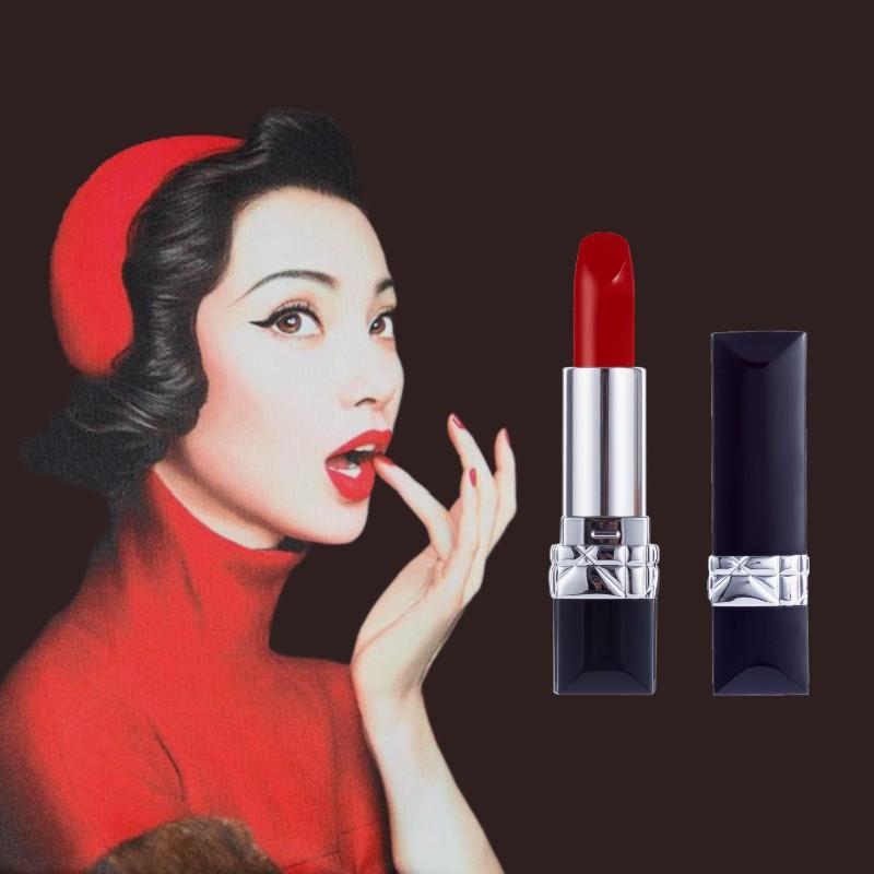 ลิปสติกแบรนด์ใหญ่ Keno Dior lipstick 999 matte moisturizing red 888 gift box ชุดกล่องของขวัญสุดประณีต