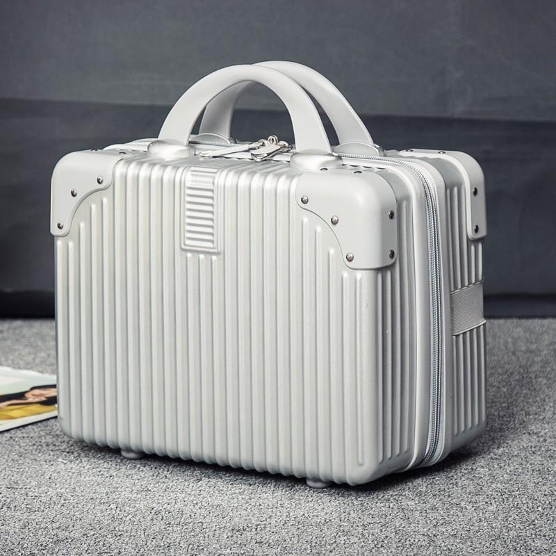 นิ้ว กระเป๋าลาก กระเป๋าเดินทางล้อคู่ แข็งแรง ยืดหยุ่นสูง น้ำหนักสีแดง14กระเป๋าเครื่องสำอางขนาดพกพา แบบพกพา มินิน้ำหนักเบ