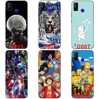 Soft silicone painted print case soft TPU Back cover 6.52 inch handphone case For Tecno Spark 6 GO Protective shell