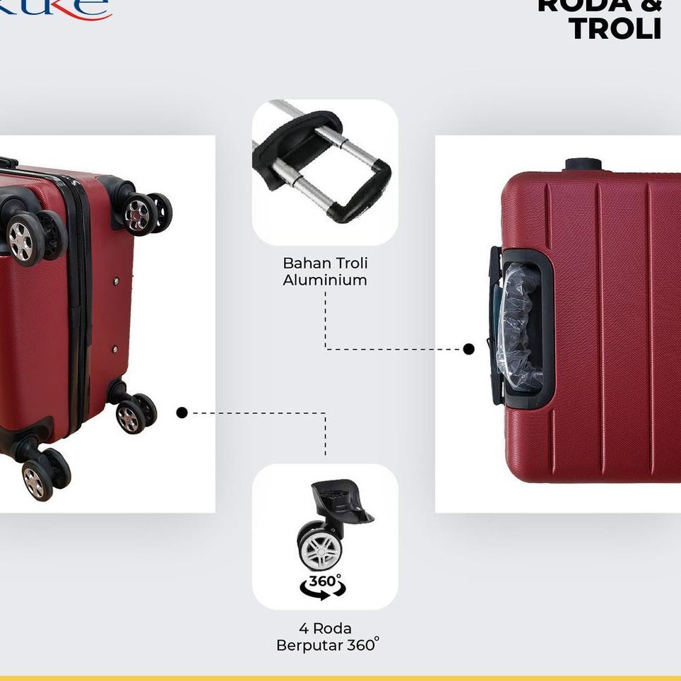กระเป๋าเดินทาง 001 24 นิ้ว Abs Fibe / กระเป๋าเดินทาง / กระเป๋าเดินทาง