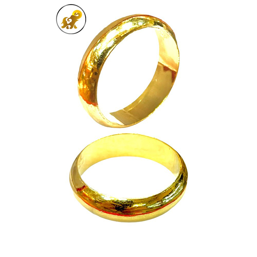 ราคาพิเศษ☇▫☊PGOLD แหวนทอง 1 สลึง ปอกมีด เกลี้ยง หนัก 3.8 กรัม ทองคำแท้ 96.5% มีใบรับประกัน