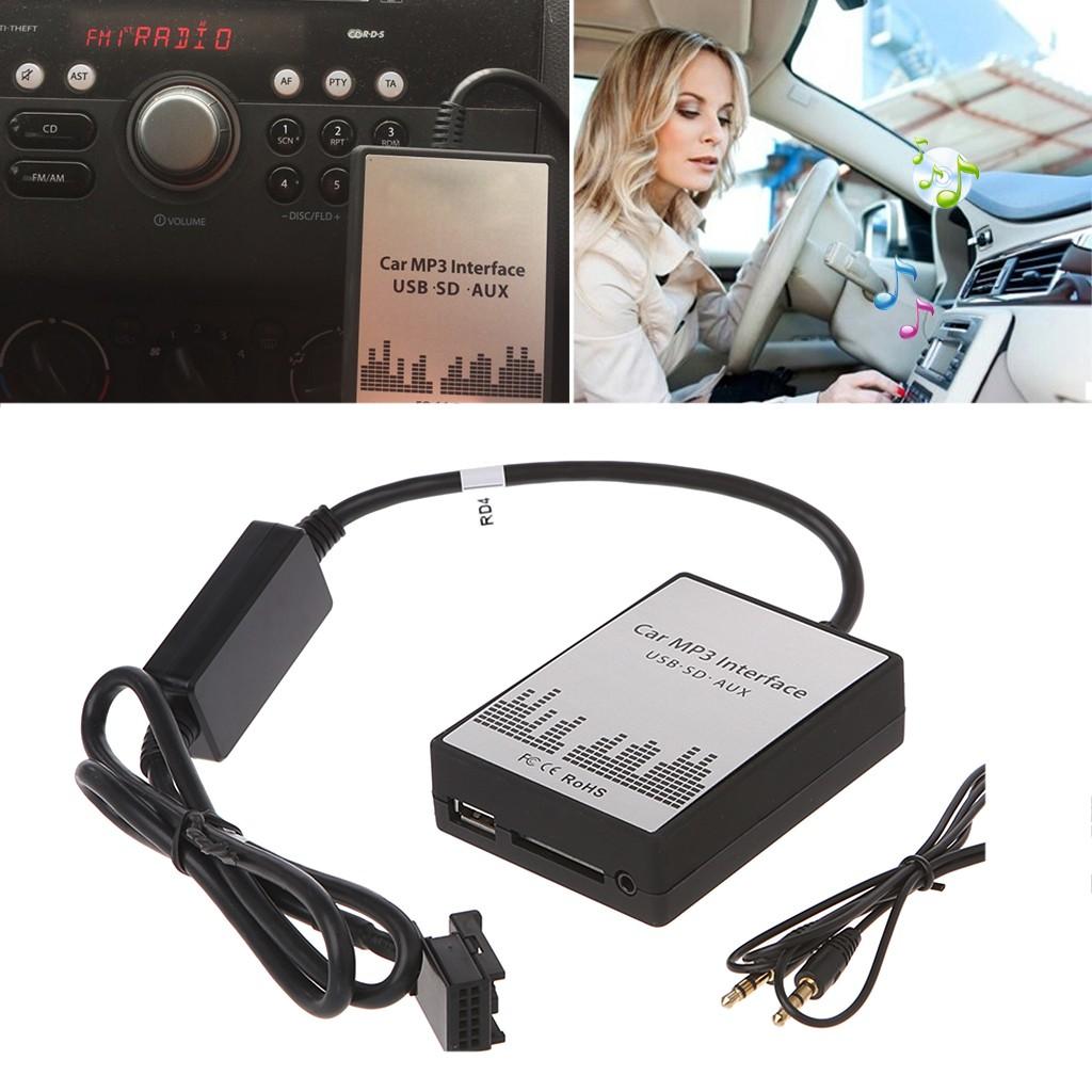 ADAPTATEUR AUDIO USB SD MP3 AUTORADIO COMPATIBLE CITROEN C2