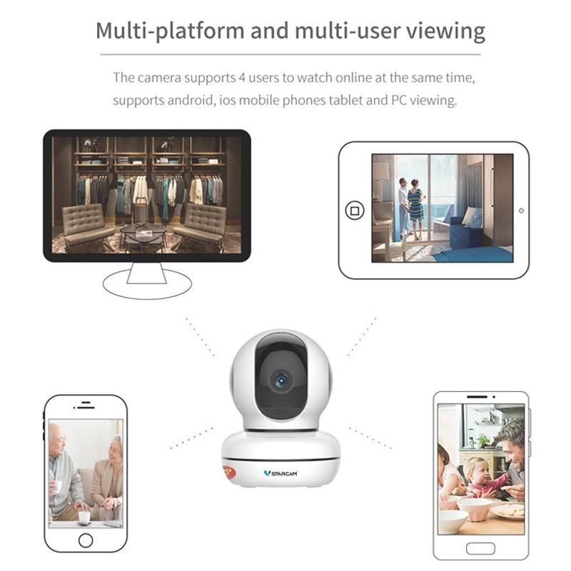 【Sevan】 VSTARCAM C46/C46S HD 720P/1080P Wireless WiFi IP Camera Support  Night Vision CCTV