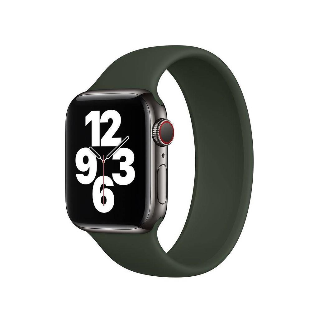 💥 สาย applewatch 🔥 สายนาฬิกา Apple iwatch6 ที่ใช้งานได้ Applewatch5 / 4/3/2/1 สายซิลิโคนเหลว SE แบบวงกลมเดี่ยว