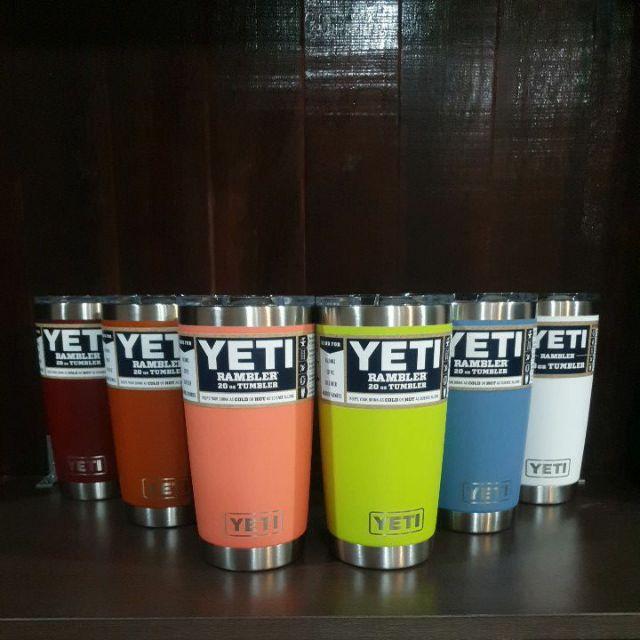 พร้อมส่ง😊ของแท้ 💯% แก้ว YETI Rambler 20oz Tumbler W/MS Lid แก้วเยติข