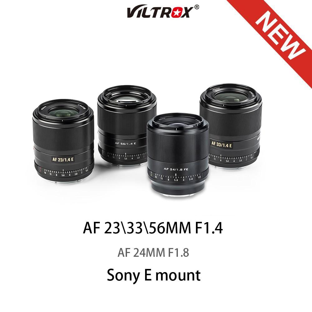 # เลนส์กล้องวิดีโอดิจิตอลVILTROX 23/33/56mm F1.4 24MM F1.8 Auto Focus Large Aerture ASC Lens for Sony Lens Emount Camera