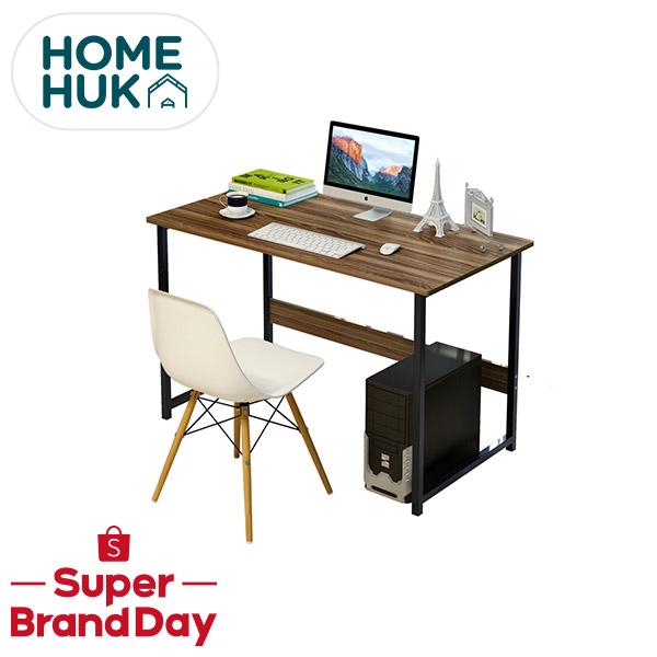 [ลดเพิ่ม8%] HAKONE โต๊ะทำงานไม้ 120x55x75CM โครงเหล็กพ่นกันสนิม หน้าโต๊ะ MDF โต๊ะ โต้ะ โต๊ะคอม โต๊ะทำงาน โต๊ะไม้ Homehuk