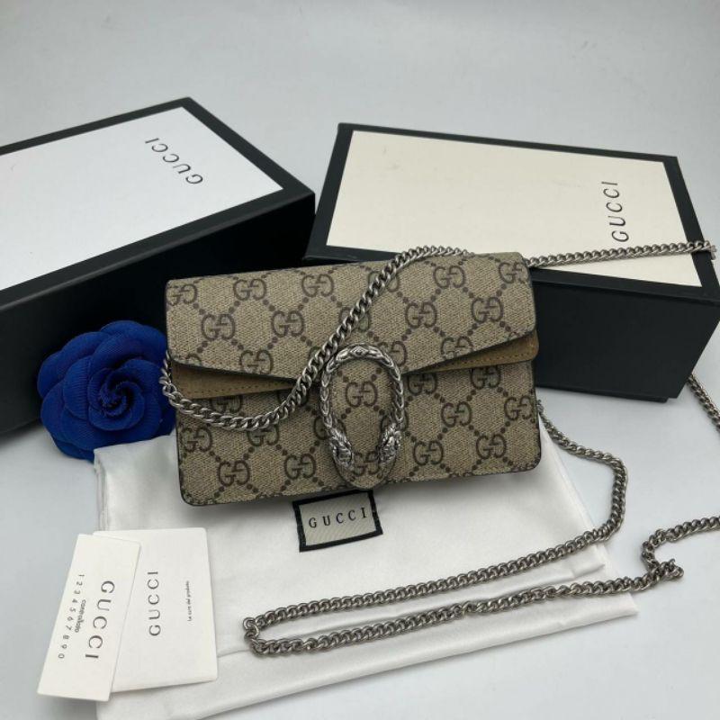 (พร้อมส่ง)กระเป๋าสะพายข้าง กุดชี่ไดโอ Gucci Dionysus Size16.5cm งานOri แท้