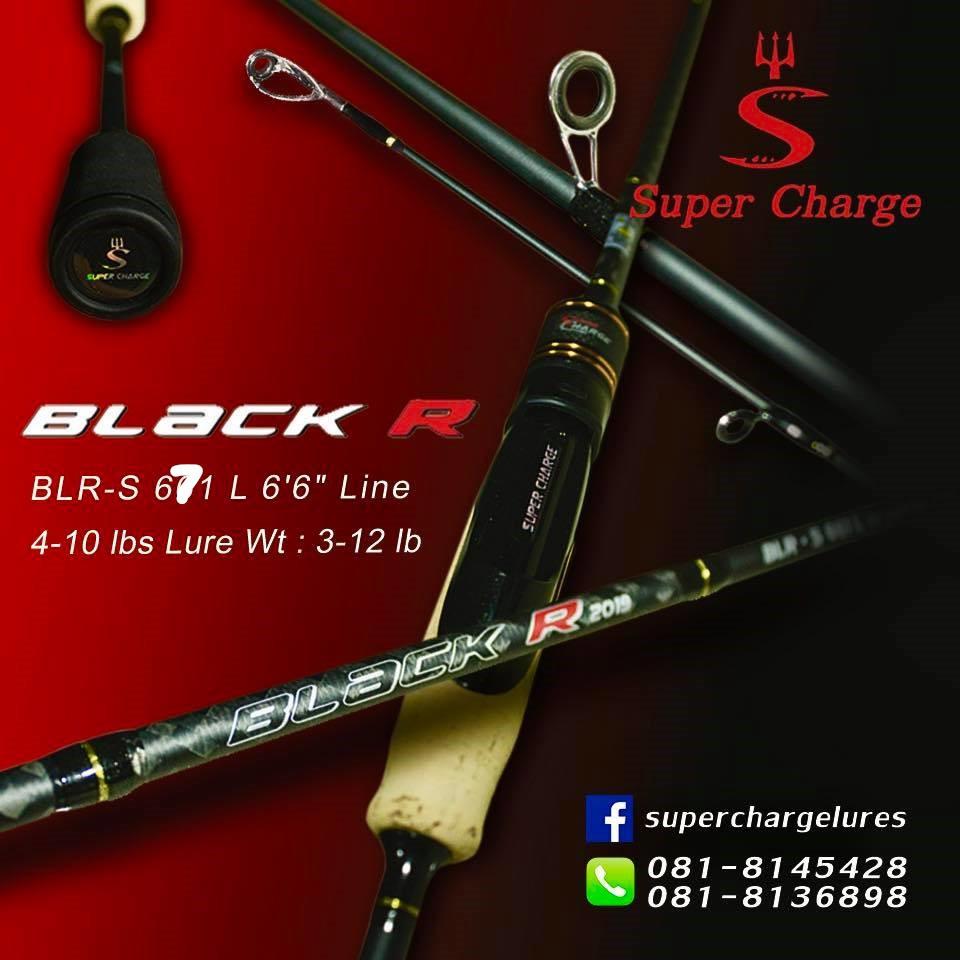 คันเบ็ด คันตีเหยื่อปลอม SUPER CHRAGE รุ่น BLACK R 2019 คันสปิน UL 3-8 4-10 6.7ฟุตหนึ่งท่อน