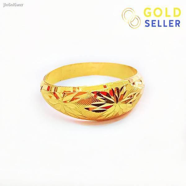 ราคาต่ำสุด☄Goldseller แหวนทอง ลายโปร่งจิกทราย ครึ่งสลึง คละลาย ทองคำแท้ 96.5%