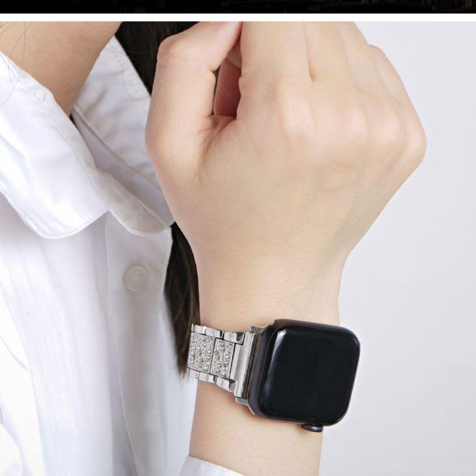 Applewatch 4 Applewatch 3 Generation Iwatch5 สายนาฬิกาข้อมือโลหะแต่งเพชร