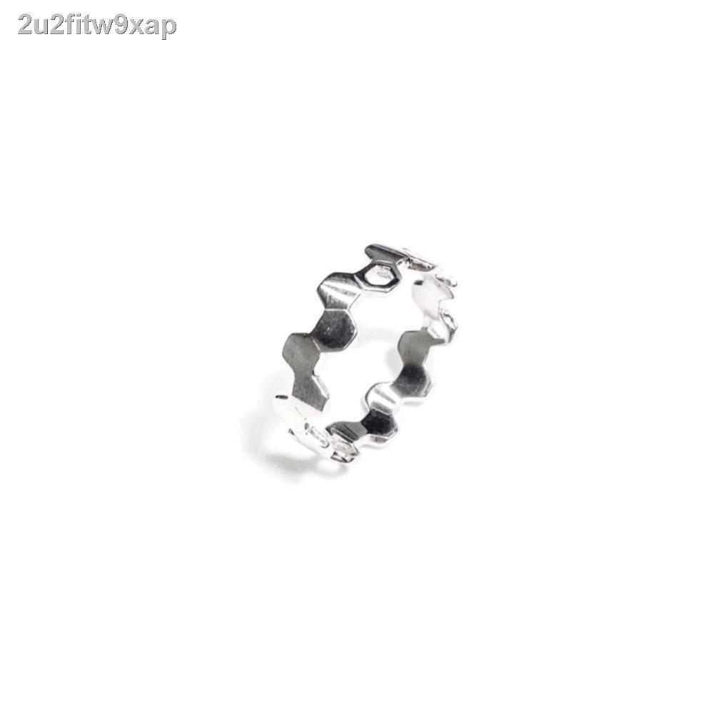 🔥มีของพร้อมส่ง🔥ลดราคา🔥﹊HAAR Hexa Ring จัดจำหน่ายโดย - แหวนเงินแท้ 925 ชุบทองคำขาว
