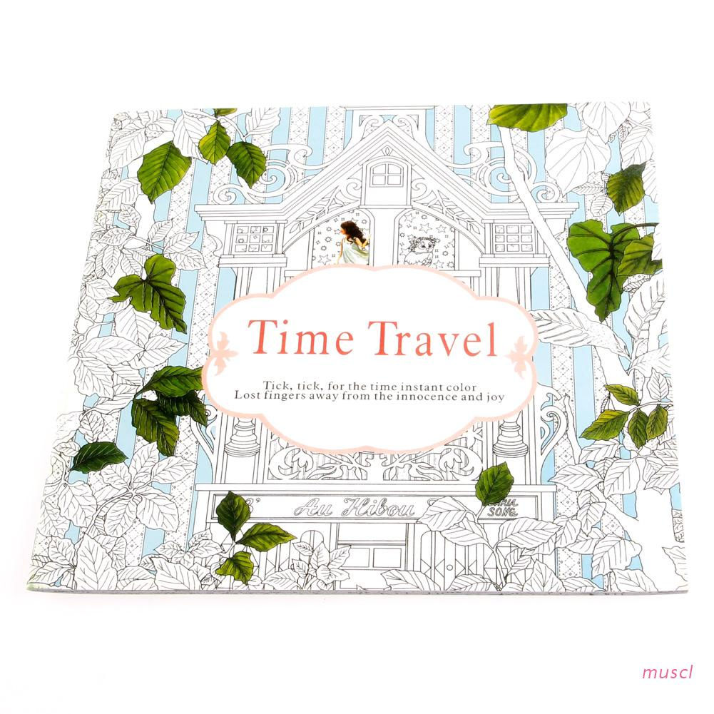 musc New Time Travel Adult Version English Graffiti Coloring Book Kids Painting Books