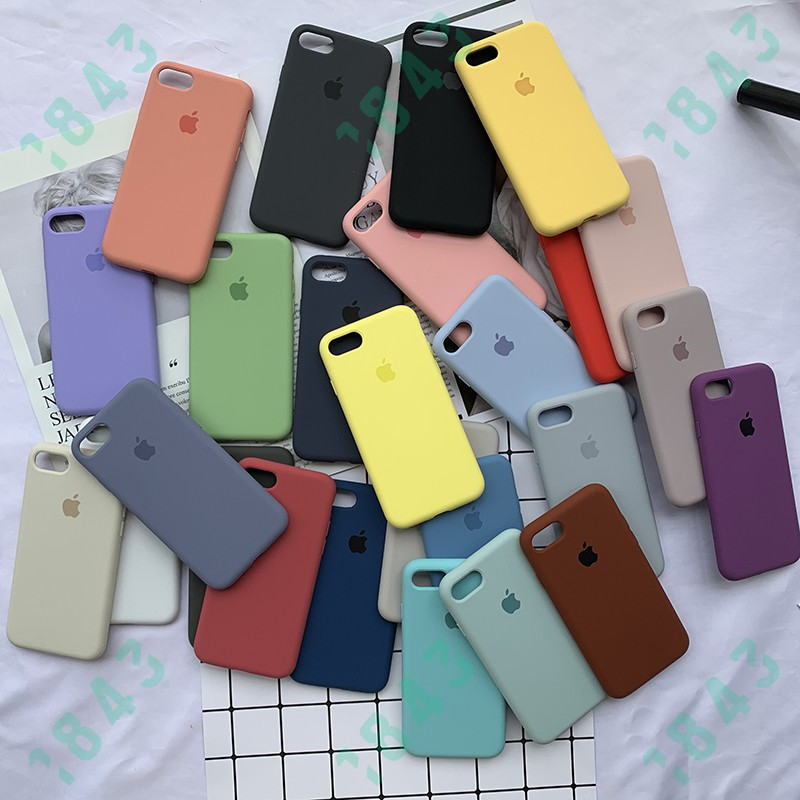 Image # 2 of Review [For iPhone XR] ซองโทรศัพท์ซิลิโคน Full Coverage Silicone Case Solid Color Soft Phone Cover Stylish Simplicity