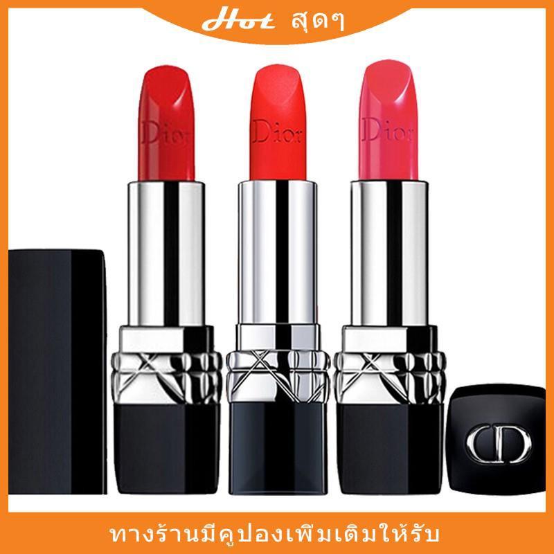 ลิปสติก ลิปสติก Dior Lip Glow Rouge Dior Matte Lipstick Couture Colour Comfort and Wear Lipstick, 999 ลิปสติกดิออร์ ลิปd
