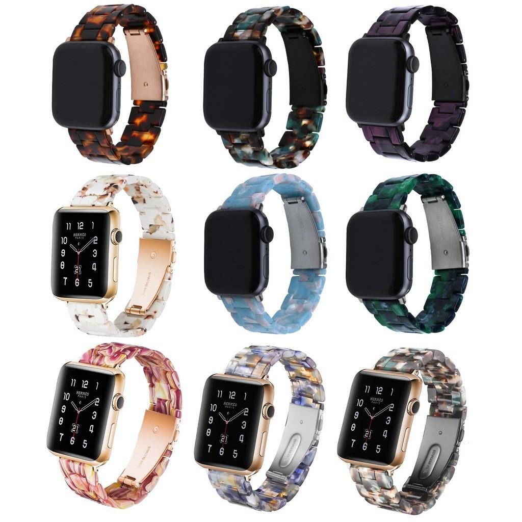 ✳❄✓สายนาฬิกา Apple Watch Resin Straps เรซิน สาย Applewatch Series 6 5 4 3 2 1,  Apple Watch SE Stainless Steel สายนาฬิกา
