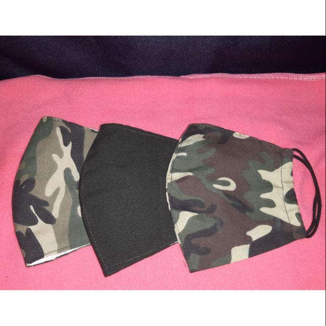 พร้อมส่งผ้าปิดจมูก 3 ชั้นทหารบก มีแบบผ้าสีชุดอ่อนทหาร ผ้าเขียวลายพรางสีเข้ม และผ้าเขียวลายพรางสีอ่อน ชั้นในเป็นผ้ามัสลิน