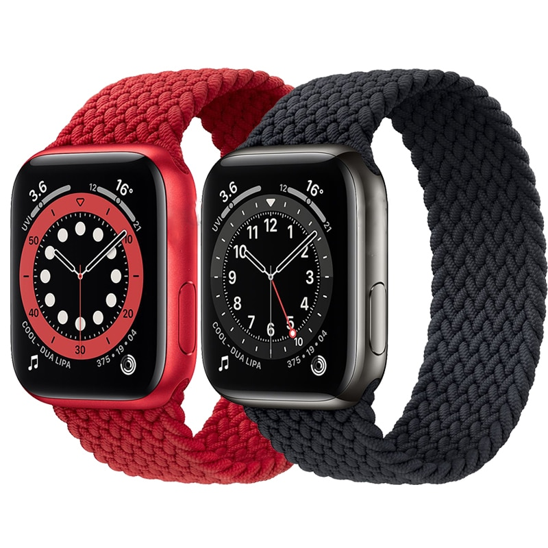 Braided Solo Loop Strap For Apple Watch Series 6 band 44mm 40mm Silicone Elastic Bracelet For iwatch 5 SE 4 3 2 1 38mm 4