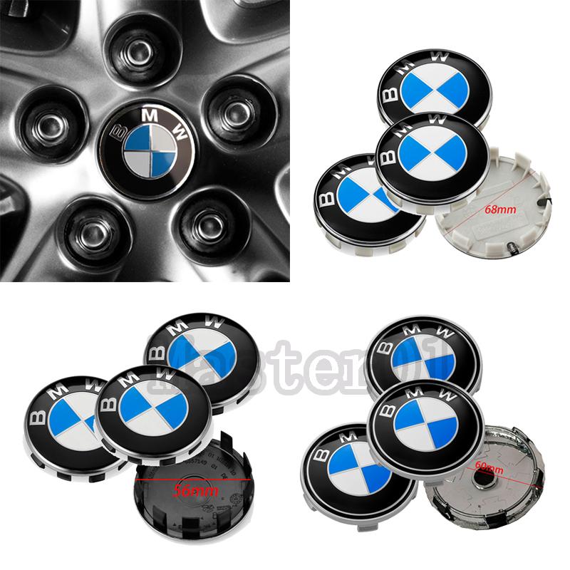 4pcs 56mm 60mm 68mm Car Tire Center Cover Mark for BMW X1 X3 X5 X6 F30 F20 F10 Auto Wheel Hub Caps Metal Decoration