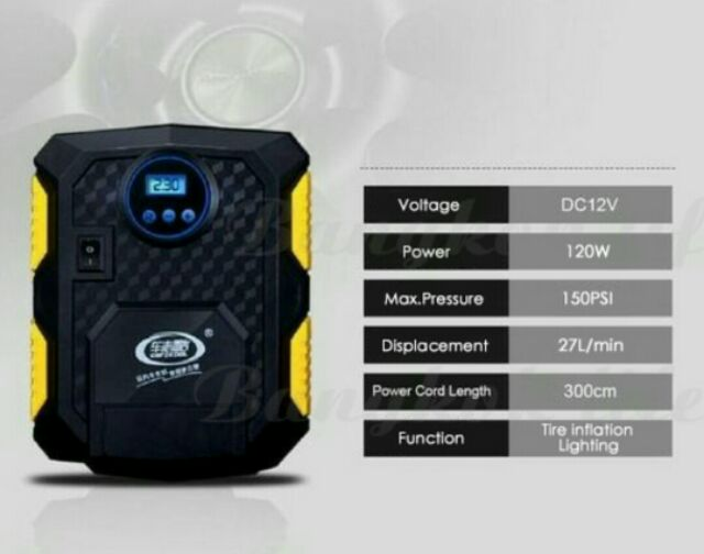 ปั๊มลมไฟฟ้า12v