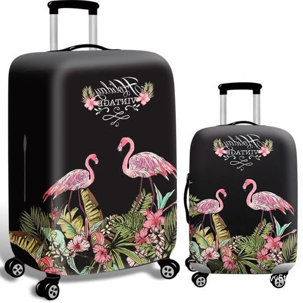แขนป้องกันกระเป๋าเดินทางกระเป๋าเดินทางกรณีรถเข็น 24 นิ้วปกกระเป๋าเดินทางยืดหยุ่นสวมทนพิมพ์กันน้ำ