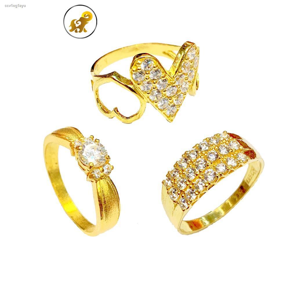 ราคาต่ำสุด☏✈PGOLD แหวนทอง 1 สลึง เพชรสวิสแฟนซี V.1 หนัก 3.8 กรัม ทองคำแท้ 96.5% มีใบรับประกัน