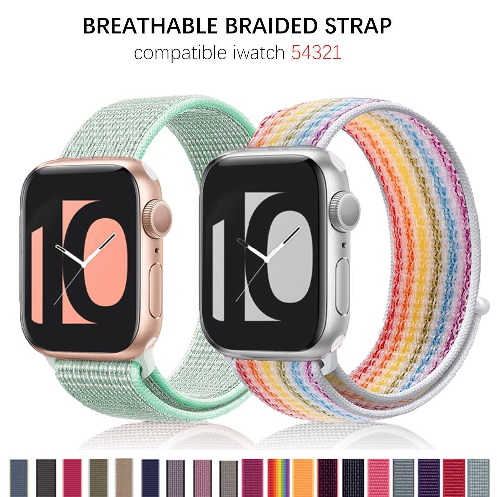 Nylon Strap Apple Watch band 40mm 44mm iWatch band 38mm 42mm series Sport loop Bracelet Apple watch 5 4 3 2 1 38 40 42 44 mm band