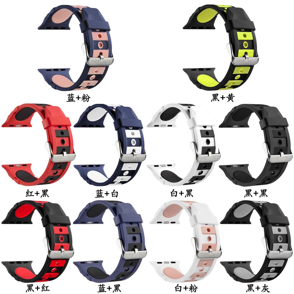 บุคลิกภาพ  Apple Watch strap สายซิลิโคน iWatch Series SE 6 5 4 3 2 1  สาย applewatch 38 40 42 44mm