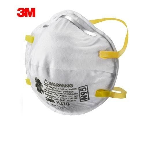 หน้ากากนิรภัย 50 3M N95 8210 100 Original Ecer Limited เพื่อความปลอดภัย