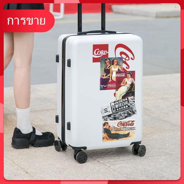 Yihe กระเป๋าเดินทางหญิงสุทธิสีแดง ins น้ำรถเข็นนักเรียนล้อสากล 20 กระเป๋าเดินทางกราฟฟิตีขนาดเล็ก 24 นิ้วชาย