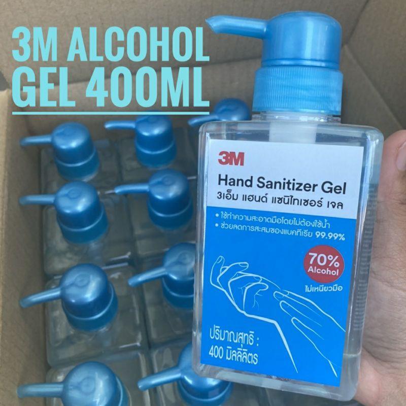 **พร้อมส่ง** เจลล้างมือ 3M 400 มล Alcohohol Gel  เจลล้างมือแอลกอฮอล์