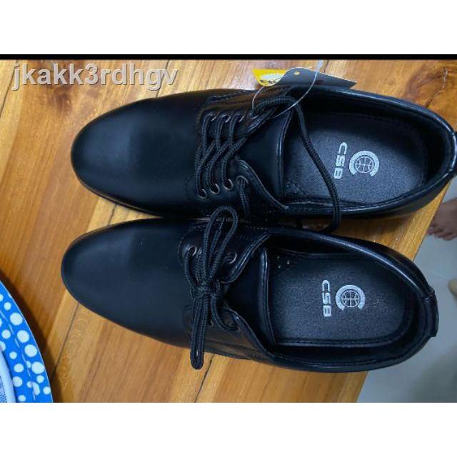 🔥มีสินค้า🔥สินค้าพร้อมส่ง🔥☢✺✹รองเท้าคัชชูหนังผู้ชายแบบเชือก CSB 545 ไซส์ 39-46 รองเท้าหนังเชือกเป็นหนังเทียมสีดำ11