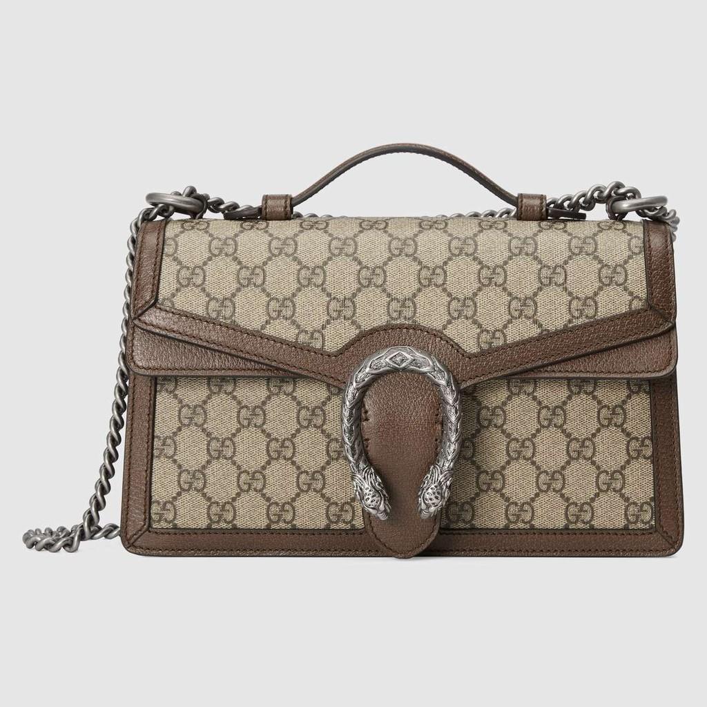 Gucci / Dionysus Series GG กระเป๋าถือ / สะพายข้าง / แบบใหม่ / แท้ 100% / 28CMกระเป๋าแท้