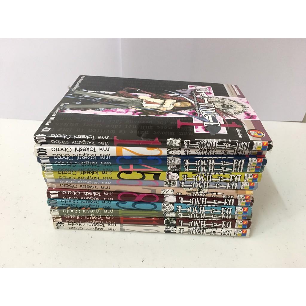 หนังสือการ์ตูน เรื่อง Death Note ครบเซ็ต เล่ม 1-12 สภาพดี