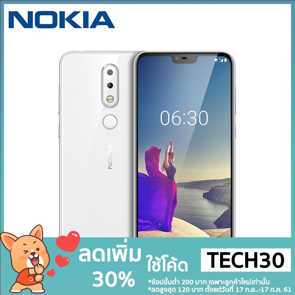 'โค้ด __(TECH30)_ ลด 30%' Nokia X6 4G Mobile Phone 64GB ROM 4GB RAM  16MP+16MP Cams 5 8-inch Snapdragon 636