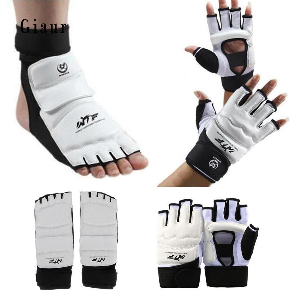 Taekwondo Training Protector Hand Foot Guard Glove Instep Martial Arts Sparring