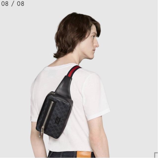 Gucci คาดอก มือ 1 GG Black belt bag